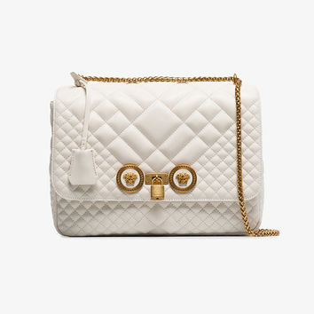 white quilted leather icon bag