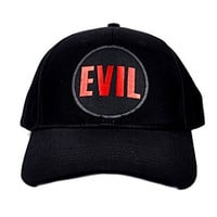 Evil Black & Red Hat Baseball Cap