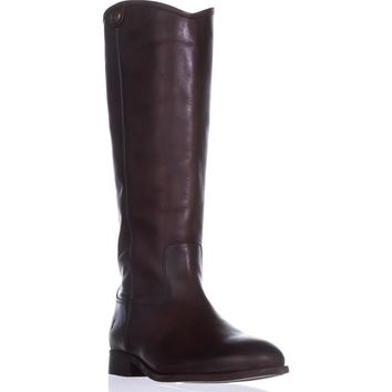 FRYE Melissa Button 2 Tall Riding Boots, Redwood, 8.5 US