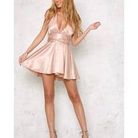 let's dance satin halter dress