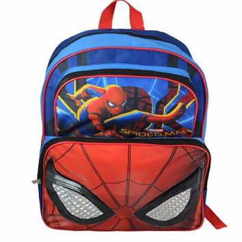 "Spiderman ""Homecoming"" 16"" Cargo Backpack (Eyes)"