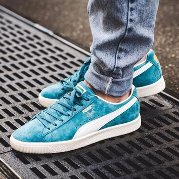 kuyou Puma Clyde Premium Core 'Harbor Blue/Whisper White'