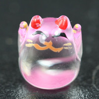 Pink Glass Maneki