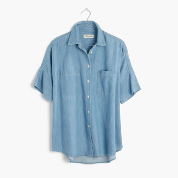 Indigo Courier Shirt in Kieran Wash : | Madewell