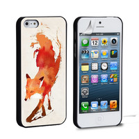 Jump Fox Art iPhone 4 5 6 Samsung Galaxy S3 4 5 6 iPod Touch 4 5 HTC One M7 8 Case