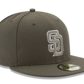 Mens New Era San Diego Padres Alternate Authentic On Field 59FIFTY Hat