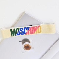 MOSCHINO Gym Sport Running Knit Headwrap Headband Warmer Head Hair Band