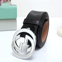DCCKXT7 Gucci' Personality Unisex Fashion Classic Double G Logo Letter Print Needle Buckle Leather Belt Waistband