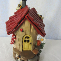 Fairy House or Handmade Bird House - Bumble Bee Abode