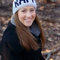 Customizable Handknit Kappa Sorority Headband/Earwarmer-Made to Order