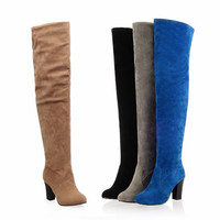 Over the Knee High Boots Winter Boots