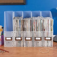 Sets of 5 Magazine File Holders
