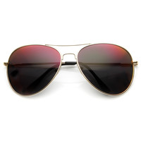 Trendy Fashion Metal Aviator Mirror Lens Sunglasses 1487