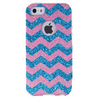 Otterbox iPhone 5 Case - Chevron Small Print Blush/Peacock Blue iPhone 5 Commuter Case - iPhone 5 Cover