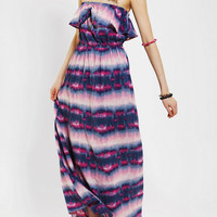 Band Of Gypsies Strapless Ruffle-Top Maxi Dress