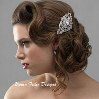 Bridal Hair Comb Rhinestone Vintage Wedding Jewelry Prom - Vivian Feiler Designs | Wedding Jewelry