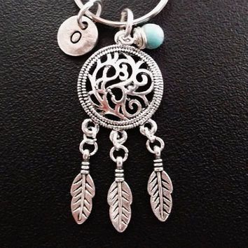 Sale.......Dreamcatcher keyring, keychain, bag charm, purse charm, monogram personalized custom gifts under 10 item No.263