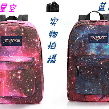 Galaxy Space Jansport Backpack Uban Hipster Unisex 2