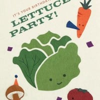 Lettuce Party Birthday Greeting Card