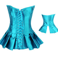 Lace Up Satin Corset