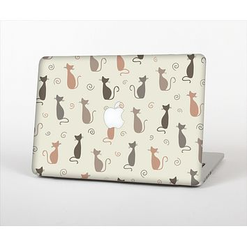 The Vintage Solid Cat Shadows Skin Set for the Apple MacBook Pro 13""