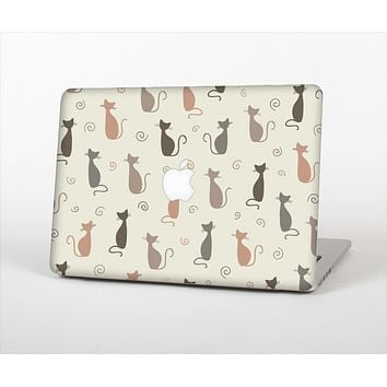 The Vintage Solid Cat Shadows Skin Set for the Apple MacBook Pro 15""
