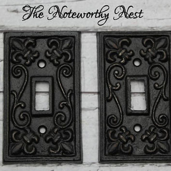Cast iron switch plates light switch from the noteworthy nest - Wrought iron switch plate covers ...