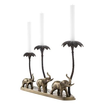 Brass Elephant Candle Holder | Eichholtz Trio