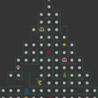 A Pac Man Christmas Tree Cross Stitch Pattern | Los Angeles Needlework