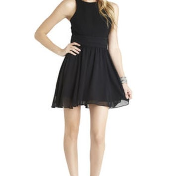 Wide-Waistband Dress in Black - BCBGeneration