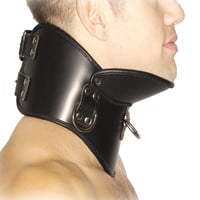 Strict Leather BDSM Posture Collar - SmallMedium
