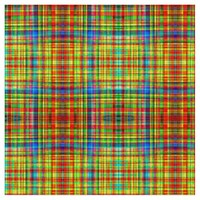 Colorful plaid pattern fabric