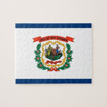 Puzzle with Flag of West Virginia