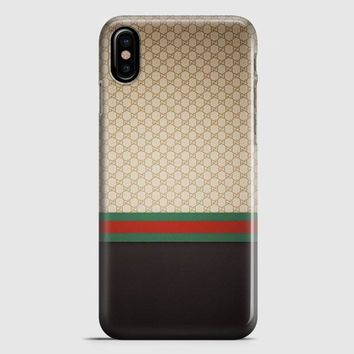 Gucci Designer Label Patterns Wall iPhone X Case | casescraft
