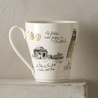 City Vignette Mug by Linea Carta