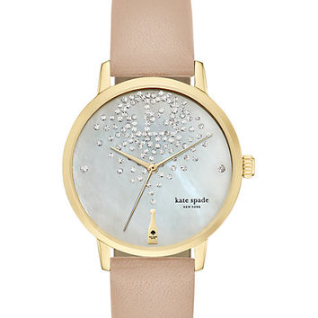 Kate Spade Champagne At Midnight Metro Watch Vachetta ONE