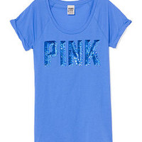Cuffed Bling Tee - PINK - Victoria's Secret
