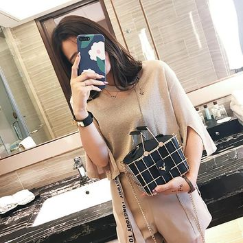 Personality metallic hollow metal cages party clutch evening bag shoulder bag ladies handbag messenger bags purse