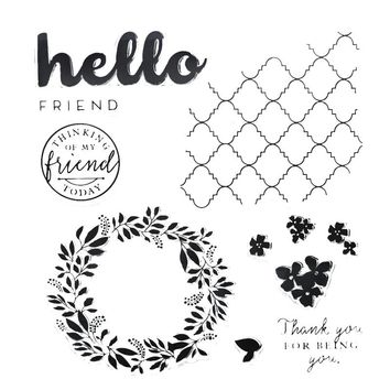 Hello Friend Letter Transparent Clear Stamp Silicone Seals for DIY Scrapbooking/Card Making/Diary Book/Paper Maker Decor Stencil
