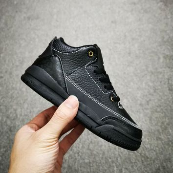 Air Jordan 3 Retro Black Cat Toddler Kid Shoes Child Sneakers - Best Deal Online