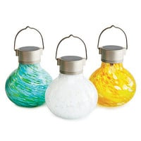 SOLAR TEALIGHTS | Luminario, Hurricane Lamp, Lantern, Garden, Patio, Outdoor | UncommonGoods