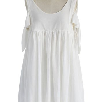Endearing Dolly Dress in White