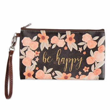 Zippered Bag - Be Happy