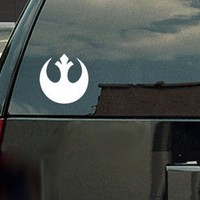 Star Wars Rebel Alliance Logo Vinyl Decal - White Window Sticker