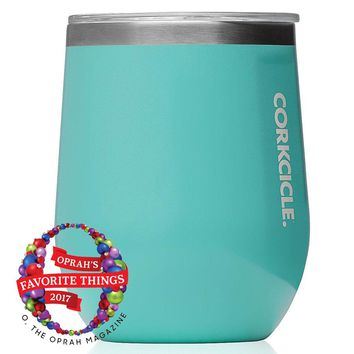 Classic Stemless Wine Tumbler in Turquoise by Corkcicle