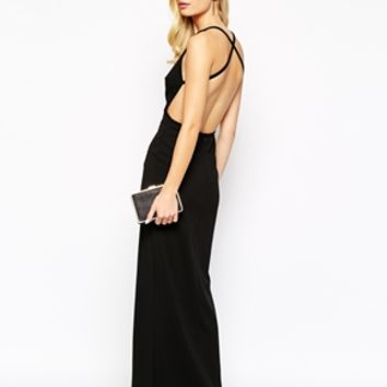 Solace London Irvin Maxi Dress with Cut Out Back
