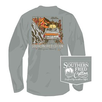 Headed Up the Country Long Sleeve Tee in Chicken Wire by Southern Fried Cotton