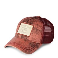 True Religion Printed Leather Baseball Cap - Saffron