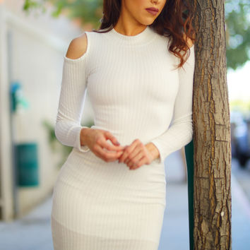 Kiara Knit Dress - White