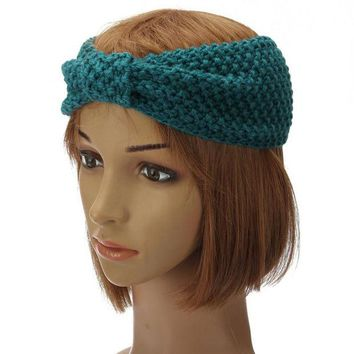 DCCKJG2 1Pc New Fashion Women Lady Crochet Bow Turban Knitted Head wrap Hair Band Ear Warmer Headband